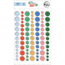Pinkfresh Studio Of What Fun Christmas Enamel Dots PFRC701120