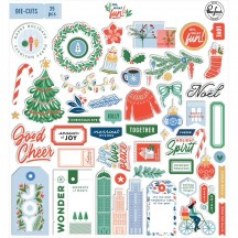 Pinkfresh Studio Oh What Fun Christmas Die-Cut Cardstock Ephemera Pack PFRC70420