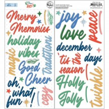 Pinkfresh Studio Oh What Fun Christmas Puffy Phrase Stickers PFRC701020