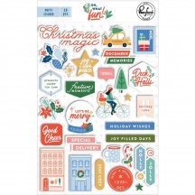Pinkfresh Studio Oh What Fun Christmas Puffy Stickers PFRC700320