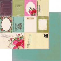 "Kaisercraft Telegraph Road Receive 12""x12"" Double Sided Cardstock - Journaling Elements Cards P1442"