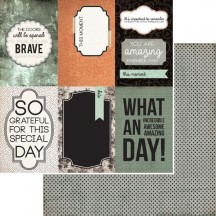 "Kaisercraft Mister Fox Heroic 12""x12"" Double Sided Cardstock - Journaling Elements Cards P1517"