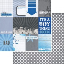 """Kaisercraft Off The Wall 12""""x12"""" Double Sided Cardstock - Wicked P1674"""