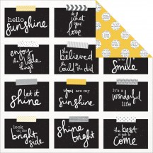 """Kaisercraft Shine Bright Buttercup 12""""x12"""" Double Sided Cardstock P1750"""