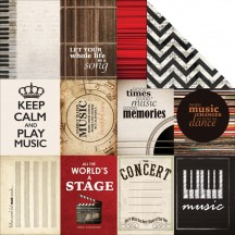 """Kaisercraft On Stage Arts 12""""x12"""" Double Sided Cardstock P1772"""