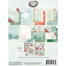 """49 and Market Vintage Artistry Peace & Joy Christmas 6""""x8"""" Collection Pack VPJ-34635"""