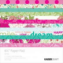 "Kaisercraft Fly Free 6.5""x6.5"" Specialty Paper Pad PP975 40 Sheets"