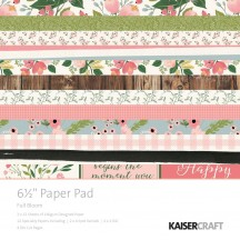 "Kaisercraft Full Bloom 6.5""x6.5"" Specialty Paper Pad PP1046 40 Sheets"