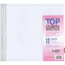 "MBI 12""x12"" Album Refill Page Protectors - 6 pack 899676"
