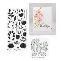 My Favorite Things Painted Prints Clear Stamp & Cutting Die Set