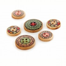 Basic Grey Paper Cottage  Wooden Buttons