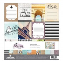 "Paper House Discover France 12""x12"" Paper Crafting Kit KTSP1037"
