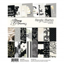 "Simple Stories Always & Forever Wedding 6""x8"" Double-Sided Paper Pad 10072"