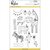 "Pinkfresh Studio Party Animal 4""x6"" Clear Stamp Stamp Set PFCS1817"