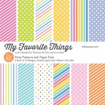 "My Favorite Things Party Patterns 6""x6"" Paper Pack"