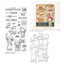 My Favorite Things Birdie Brown Party Like A Pirate Clear Stamps & Cutting Die Set