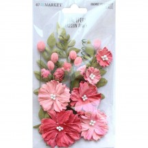 49 and Market Royal Spray Passion Pink Flowers RS-34000