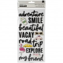 Pebbles Jen Hadfield Chasing Adventures Foam Phrase Thickers 734020