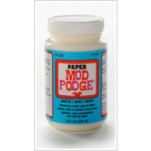 Mod Podge Paper Matte Waterbase Sealer, Glue And Finish - 8oz CS11236