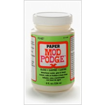 Mod Podge Paper Gloss Waterbase Sealer, Glue And Finish - 8oz CS11238
