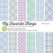 "My Favorite Things Petite Plaid 6""x6"" Paper Pack"