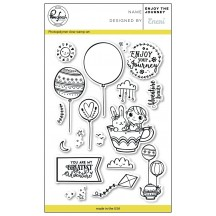 "Pinkfresh Studio Enjoy The Journey 4""x6"" Clear Stamp Stamp Set PFCS0918"