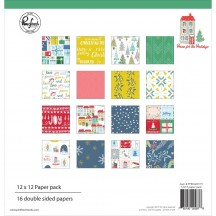 "Pinkfresh Studio Home for the Holidays Christmas 12""x12"" Collection Kit 600119"