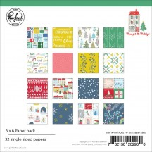 "Pinkfresh Studio Home for the Holidays Christmas 6""x6"" Paper Pack 600219"