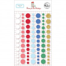 Pinkfresh Studio Home for the Holidays Christmas Enamel Dots 600819