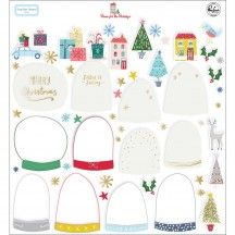 Pinkfresh Studio Home for the Holidays Christmas Snow Globe Elements Cardstock & Acetate Pack 600919