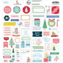 Pinkfresh Studio Home for the Holidays Christmas Cardstock Stickers 600519