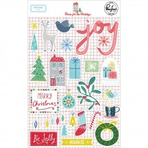 Pinkfresh Studio Home for the Holidays Christmas Puffy Stickers 600319