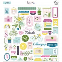 Pinkfresh Studio Noteworthy Die-Cut Cardstock Ephemera Pack PFRC200420