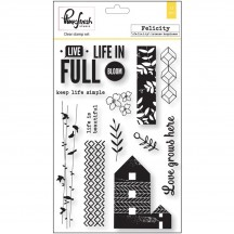 "Pinkfresh Studio Felicity 4""x6"" Clear Stamp Stamp Set PFRC101416"
