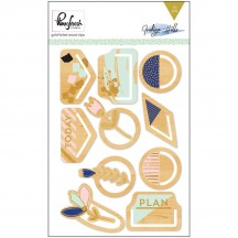 Pinkfresh Studio Indigo Hills Gold Foiled Wood Clip PFRC300516
