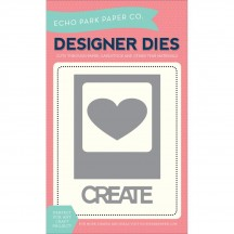 Echo Park Designer Dies Photo Card, Heart, Create Universal Cutting Dies EPPDIE2