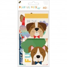 DCWV Playful Pets Dogs Ephemera Die-Cut Cardstock & Acetate Shapes 614906