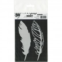 Carabelle Studio Art Mask 2 Plumes Feathers Stencil Mask MA60033
