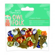 doCrafts Papermania Owl Folk Charm Pack 354810