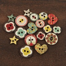 Prima Marketing Wooden Button Embellishments - Welcome to Paris 559274