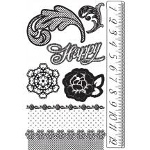 Prima Marketing Cling Stamps - Rosarian 559366