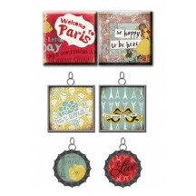 Prima Marketing Vintage Trinkets - Charms & Tiles - Welcome to Paris 559625