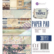 "Prima Marketing Frank Garcia St Tropez 6""x6"" Paper Pad 992729"
