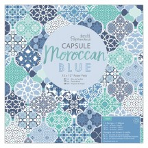 "doCrafts Papermania Capsule Moroccan Blue 12""x12"" Paper Pack 160261"