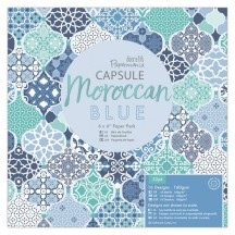 "doCrafts Papermania Capsule Moroccan Blue 6""x6"" Paper Pack 160262"
