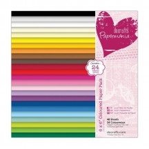"doCrafts Papermania Coloured 6""x6"" Paper Pack 160502"