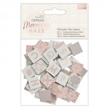 doCrafts Papermania Capsule Moroccan Haze Wooden Tile Letters 174596