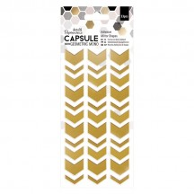 doCrafts Papermania Capsule Geometic Mono Chevron Arrow Gold Adhesive Mirror Shapes 351702