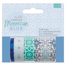 doCrafts Papermania Capsule Moroccan Blue Washi Tape Set 462225