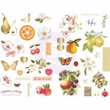 Prima Fruit Paradise Self Adhesive Chipboard Accent Shape Stickers 639778